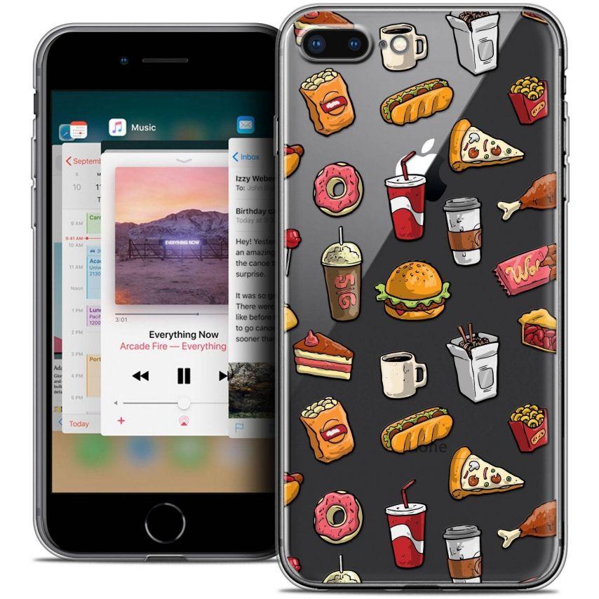 "Coque Crystal Gel Apple iPhone 7 Plus (5.5"") Extra Fine Foodie - Fast Food"