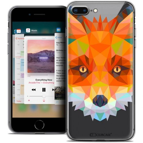 "Coque Crystal Gel Apple iPhone 7 Plus (5.5"") Extra Fine Polygon Animals - Renard"