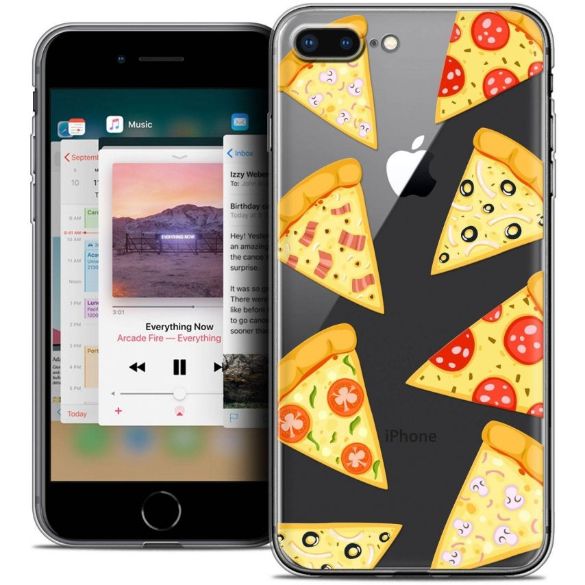 """Coque Crystal Gel Apple iPhone 7 Plus (5.5"""") Extra Fine Foodie - Pizza"""