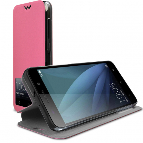 Coque Etui Huawei Honor 4X Slim Folio - Fonction Smart View - Rose