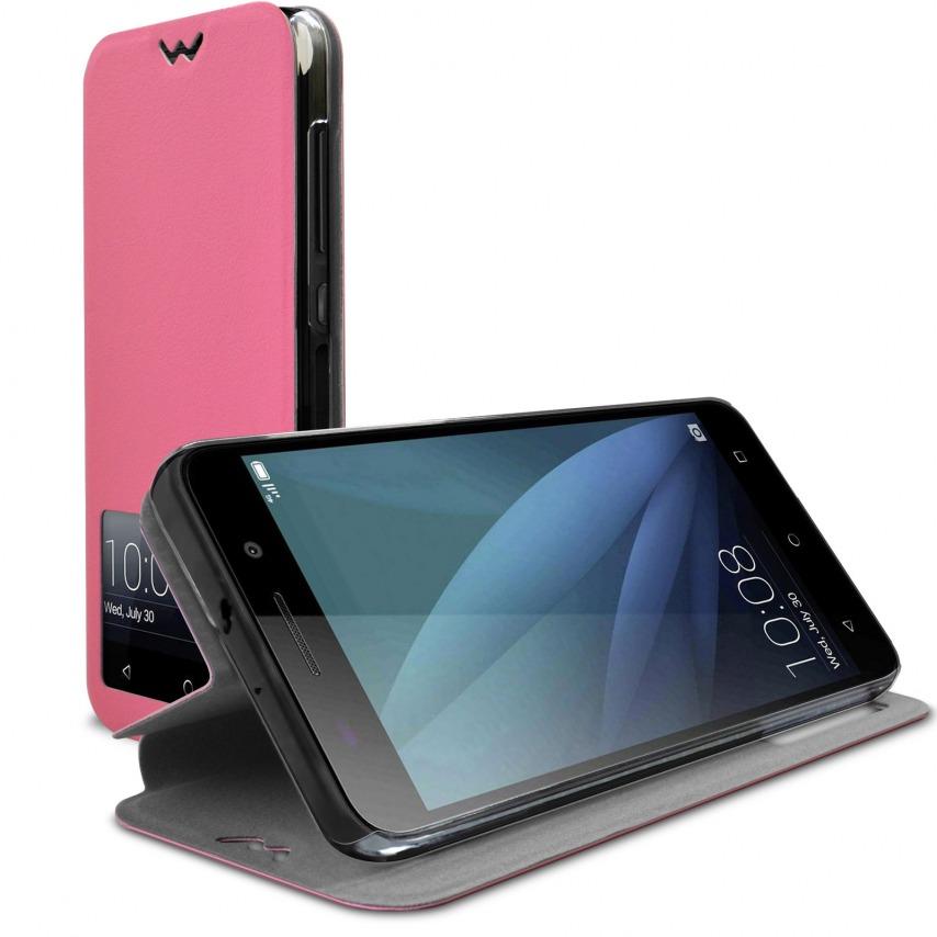 Photo réelle de Coque Etui Huawei Honor 4X Slim Folio - Fonction Smart View - Rose