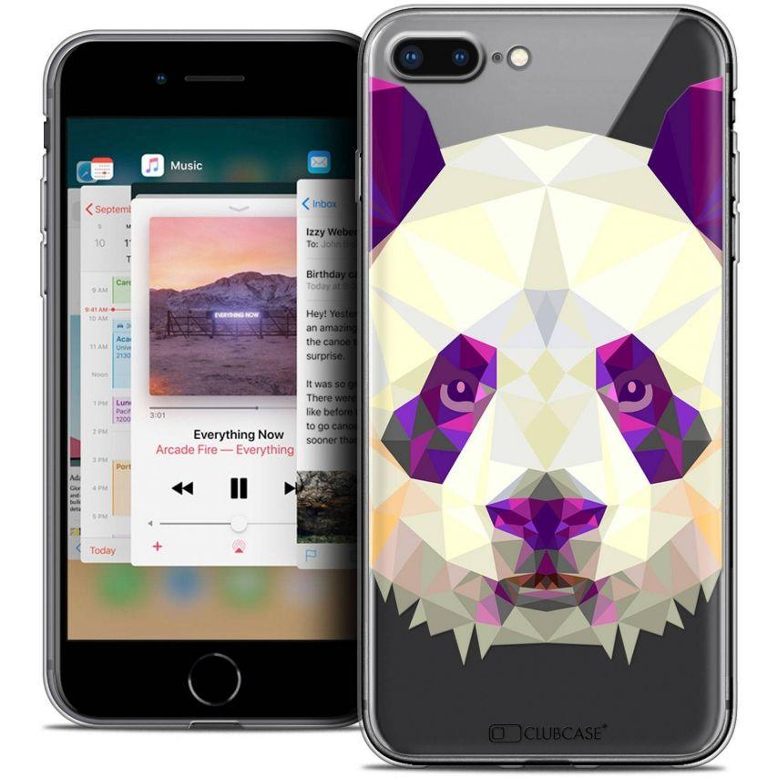 "Coque Crystal Gel Apple iPhone 7 Plus (5.5"") Extra Fine Polygon Animals - Panda"