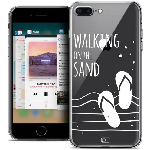 "Coque Crystal Gel Apple iPhone 7 Plus (5.5"") Extra Fine Summer - Walking on the Sand"