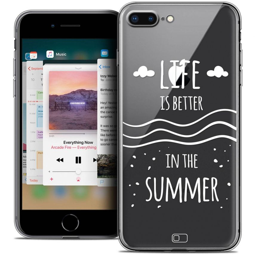 "Coque Crystal Gel Apple iPhone 7 Plus (5.5"") Extra Fine Summer - Life's Better"