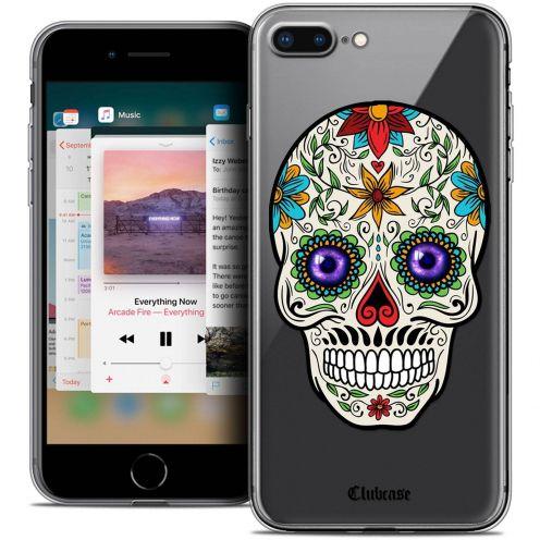 "Coque Crystal Gel Apple iPhone 7 Plus (5.5"") Extra Fine Skull - Maria's Flower"