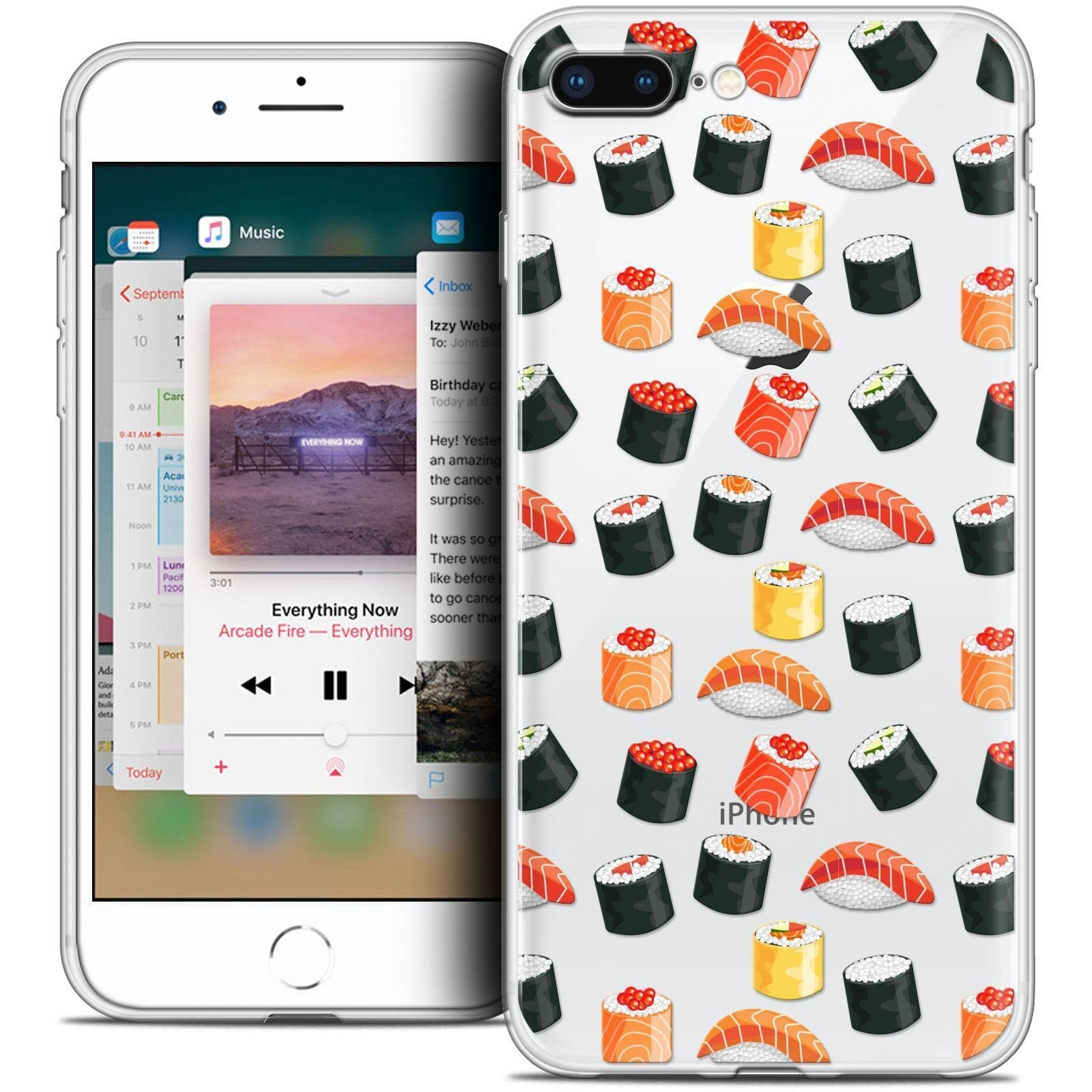 coque crystal gel apple iphone 7 plus 55 extra fine foodie sushi