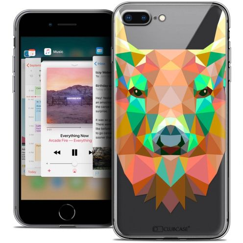 "Coque Crystal Gel Apple iPhone 7 Plus (5.5"") Extra Fine Polygon Animals - Cerf"