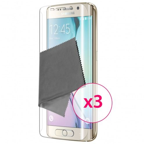Zoom sur Films de protection Samsung Galaxy S6 Edge Clubcase ® HD Lot de 3