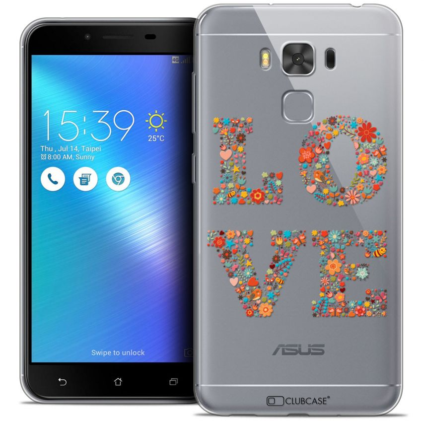 "Coque Crystal Gel Asus Zenfone 3 Max Plus ZC553KL (5.5"") Extra Fine Summer - Love Flowers"