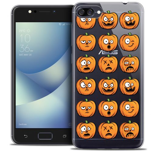 "Coque Crystal Gel Asus Zenfone 4 MAX PLUS / Pro ZC554KL (5.5"") Extra Fine Halloween - Cartoon Citrouille"