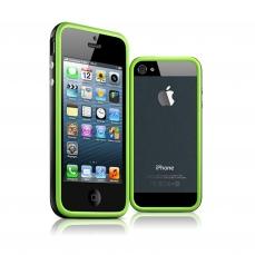Vue complémentaire de Coque Bumper iPhone 5 - 5S HQ Noir / Vert