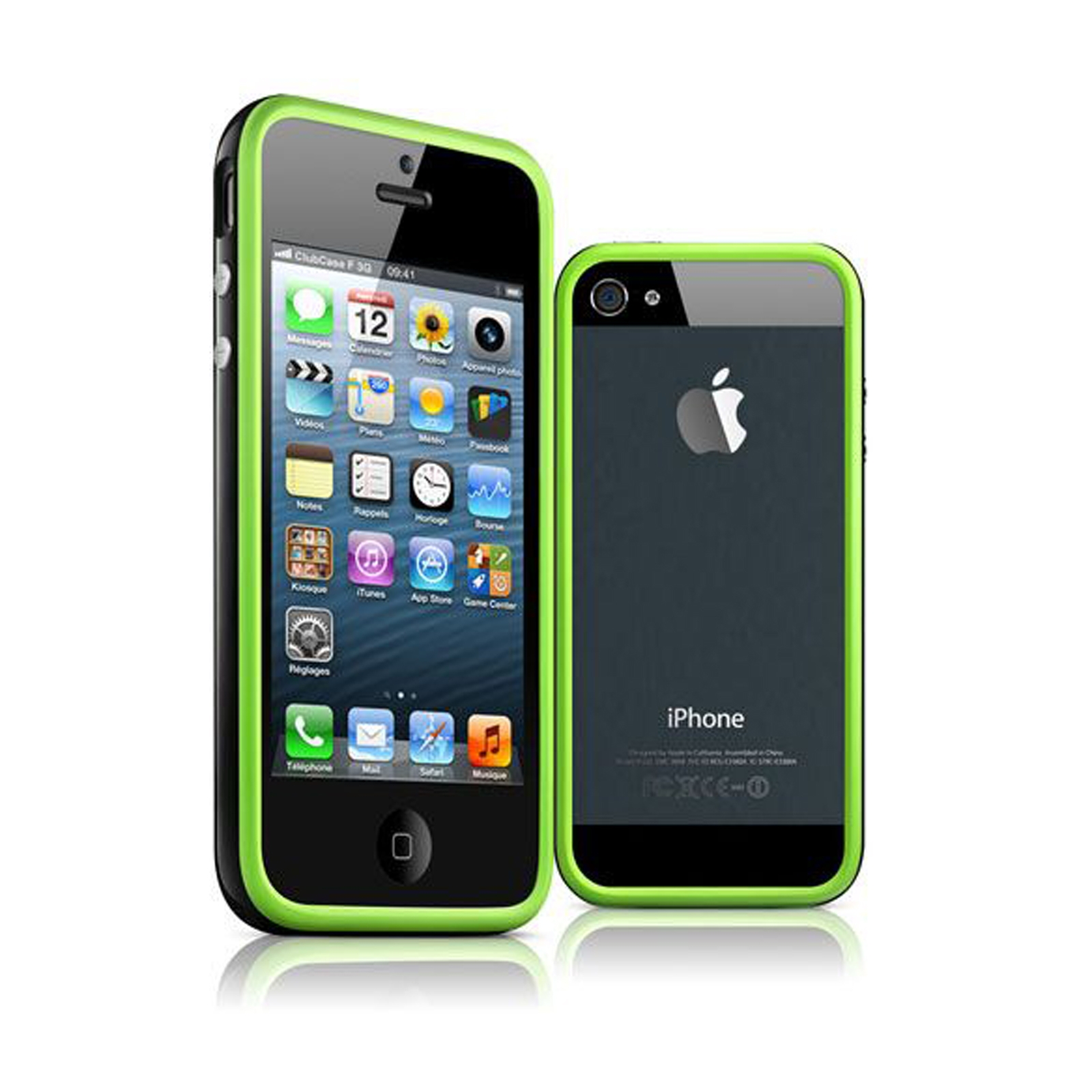 coque bumper iphone 5s 5 hq vert noir. Black Bedroom Furniture Sets. Home Design Ideas