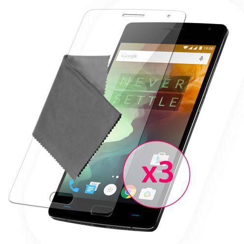 Zoom sur Films de protection OnePlus 2 Clubcase® 3H Ultra Clear HD Lot de 3