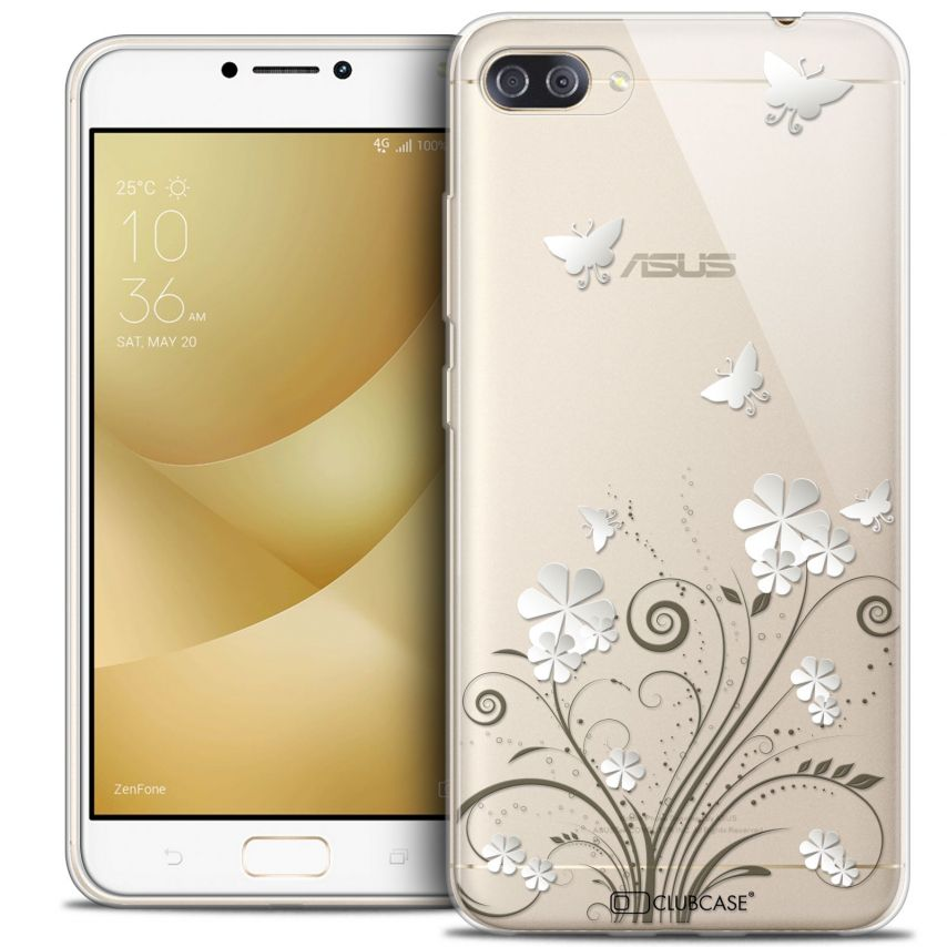 "Coque Crystal Gel Asus Zenfone 4 MAX PLUS / Pro ZC554KL (5.5"") Extra Fine Summer - Papillons"
