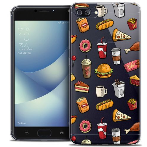 """Coque Crystal Gel Asus Zenfone 4 MAX PLUS / Pro ZC554KL (5.5"""") Extra Fine Foodie - Fast Food"""