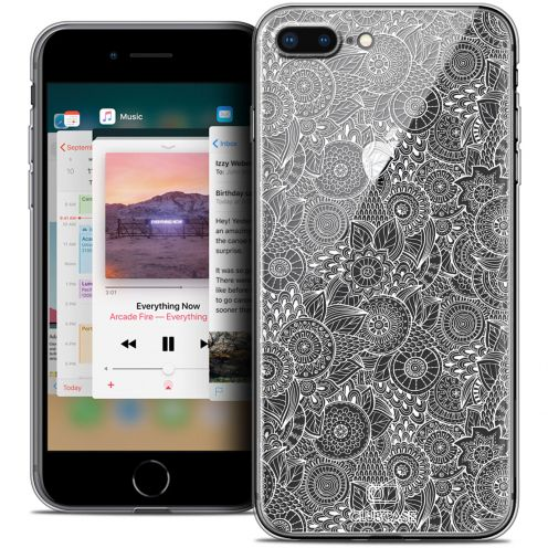 "Coque Crystal Gel Apple iPhone 7/8 Plus (5.5"") Extra Fine Texture Dentelle Florale - Blanche"