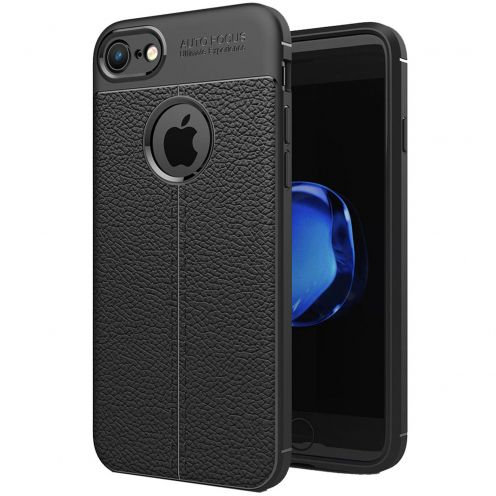 "Coque Apple iPhone 7/8 (4.7"") Hybrid Series Texture Cuir Noir"