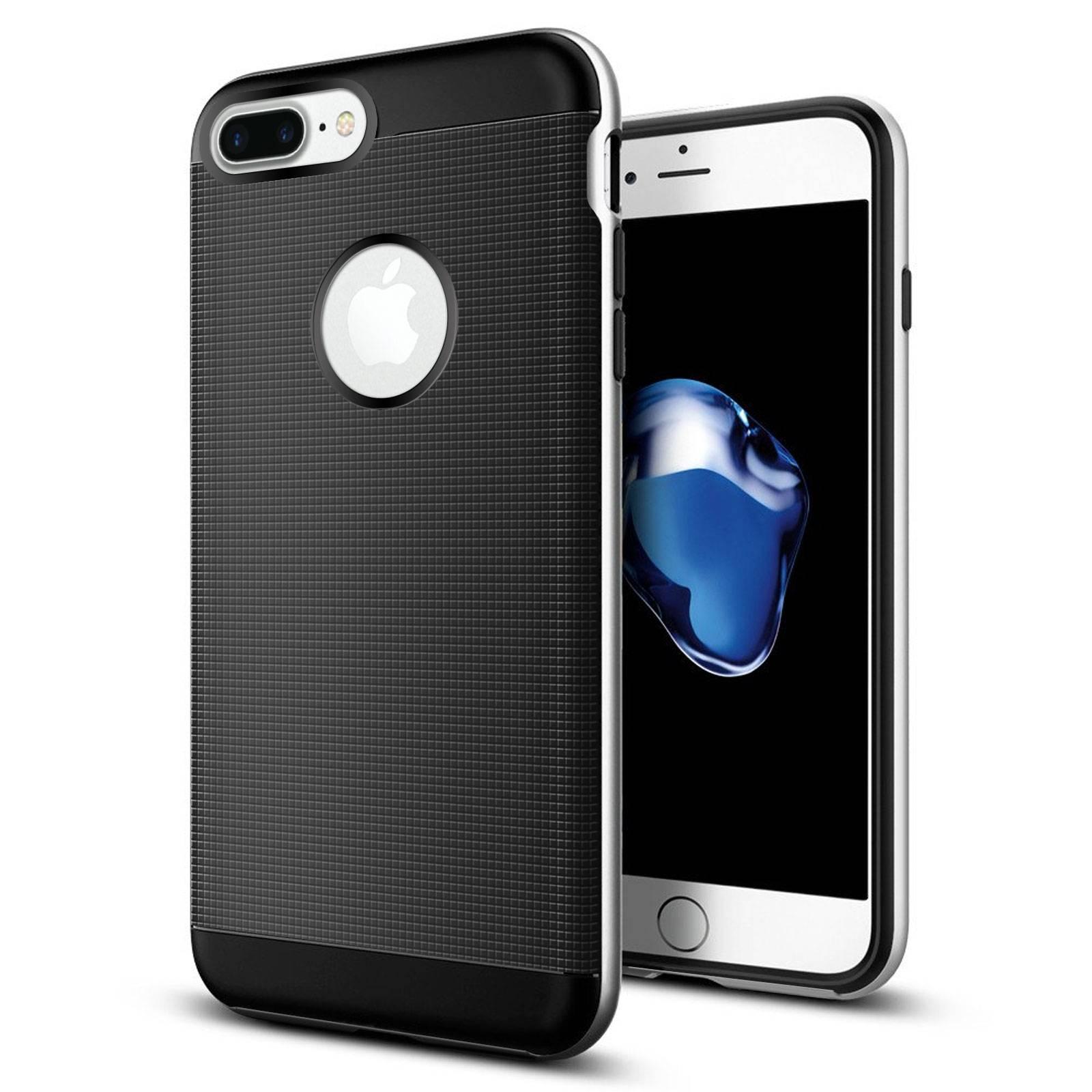 coque apple iphone 7 8 plus 55 neo bumper hybrid series argent