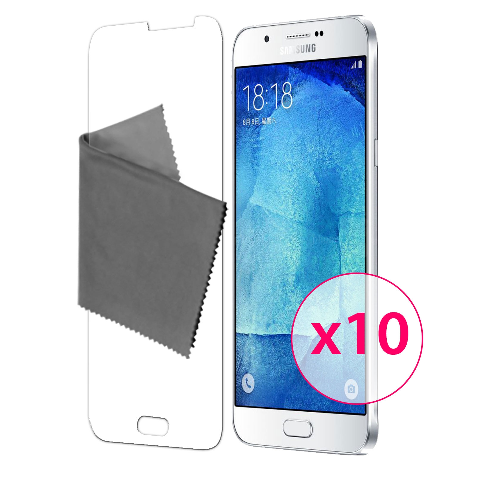 10 films de protection galaxy a8 clubcase 3h ultra clear hd. Black Bedroom Furniture Sets. Home Design Ideas