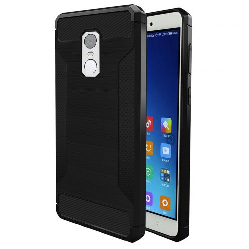 "Coque Xiaomi Redmi Note 4 (5.5"") Hybrid Series Carbon Brush Noir"