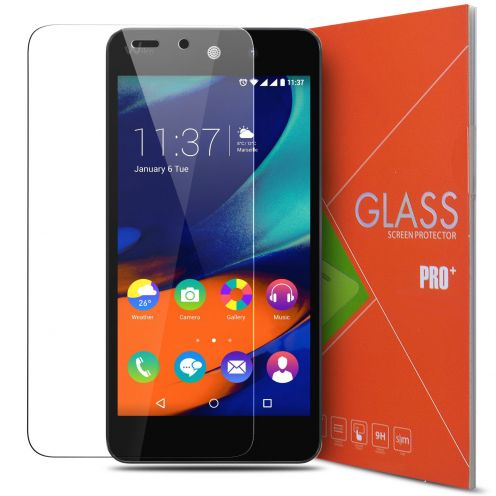 Protection d'écran Verre trempé Wiko Rainbow Up - 9H Glass Pro+ HD 0.33mm 2.5D