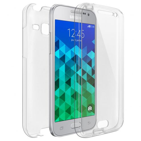 Coque Samsung Galaxy Core Prime (G360) Intégrale Gel Defense 360° transparente