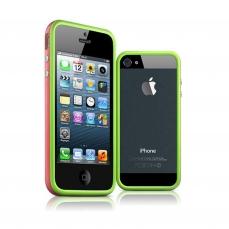 Vue complémentaire de Coque Bumper iPhone 5 - 5S HQ Vert / Rose