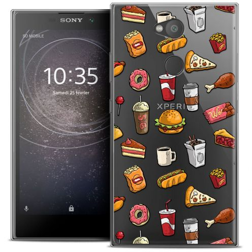 "Coque Crystal Gel Sony Xperia L2 (5.5"") Extra Fine Foodie - Fast Food"