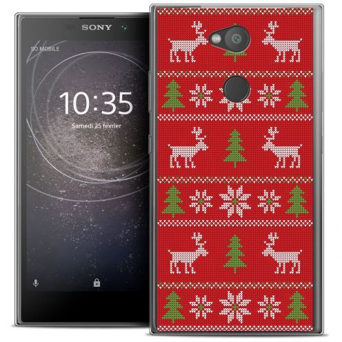 """Coque Crystal Gel Sony Xperia L2 (5.5"""") Extra Fine Noël 2017 - Couture Rouge"""