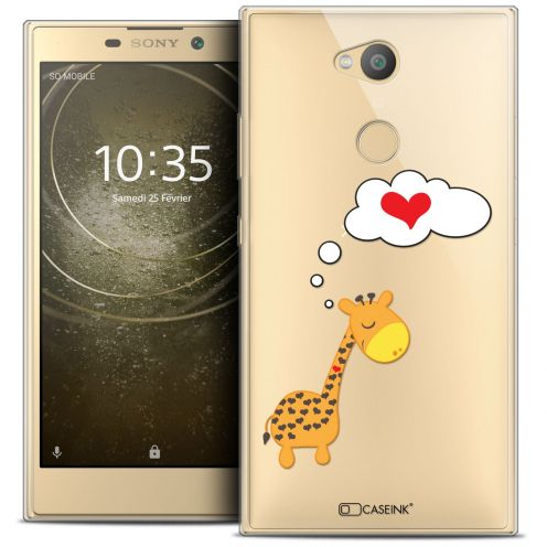 """Coque Crystal Gel Sony Xperia L2 (5.5"""") Extra Fine Love - Girafe Amoureuse"""