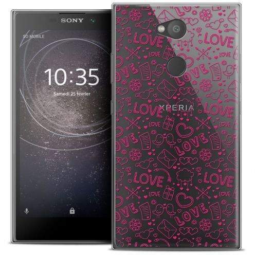 "Coque Crystal Gel Sony Xperia L2 (5.5"") Extra Fine Love - Doodle"