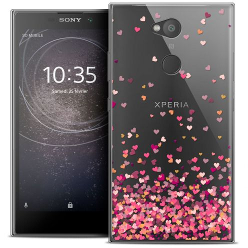 """Coque Crystal Gel Sony Xperia L2 (5.5"""") Extra Fine Sweetie - Heart Flakes"""