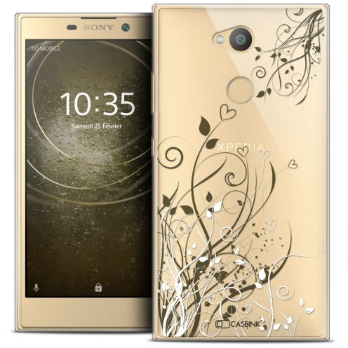 """Coque Crystal Gel Sony Xperia L2 (5.5"""") Extra Fine Love - Hearts Flowers"""