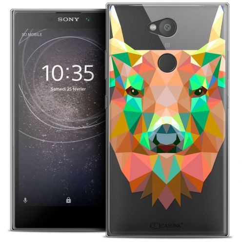 "Coque Crystal Gel Sony Xperia L2 (5.5"") Extra Fine Polygon Animals - Cerf"