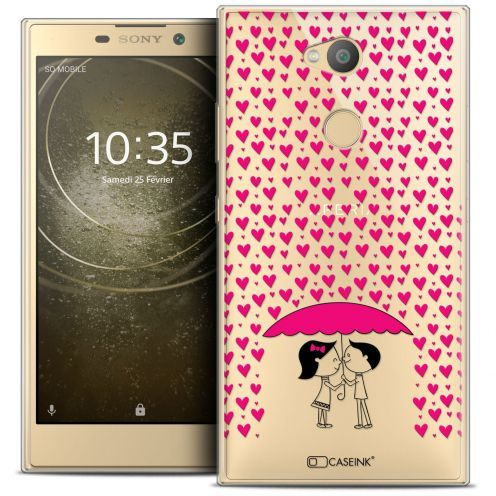 "Coque Crystal Gel Sony Xperia L2 (5.5"") Extra Fine Love - Pluie d'Amour"
