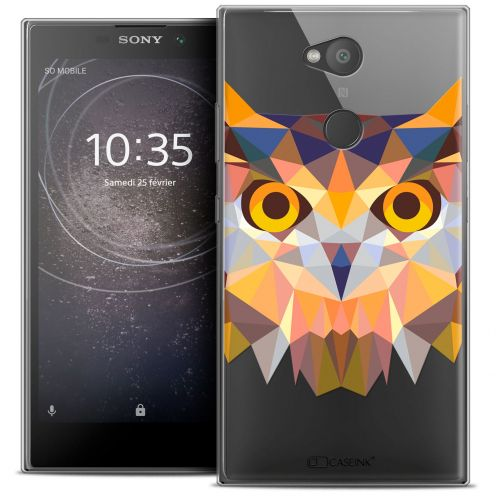 "Coque Crystal Gel Sony Xperia L2 (5.5"") Extra Fine Polygon Animals - Hibou"