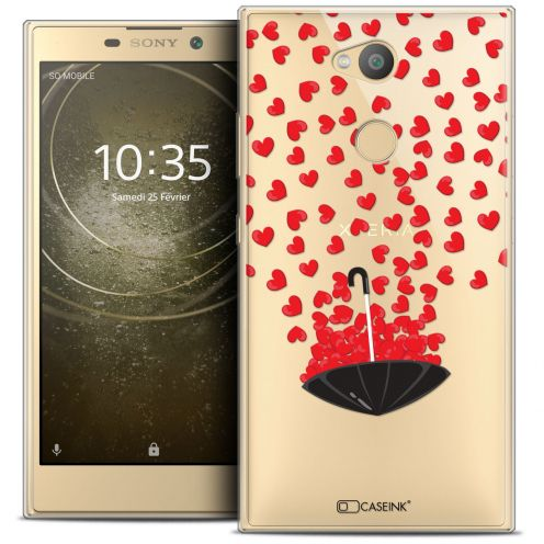 "Coque Crystal Gel Sony Xperia L2 (5.5"") Extra Fine Love - Parapluie d'Amour"