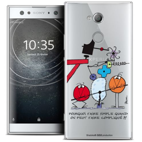 "Coque Gel Sony Xperia XA2 ULTRA (6"") Extra Fine Les Shadoks® - Pourquoi faire Simple"