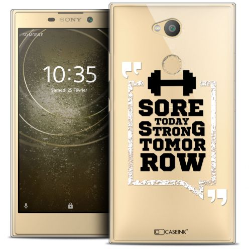 """Coque Crystal Gel Sony Xperia L2 (5.5"""") Extra Fine Quote - Strong Tomorrow"""