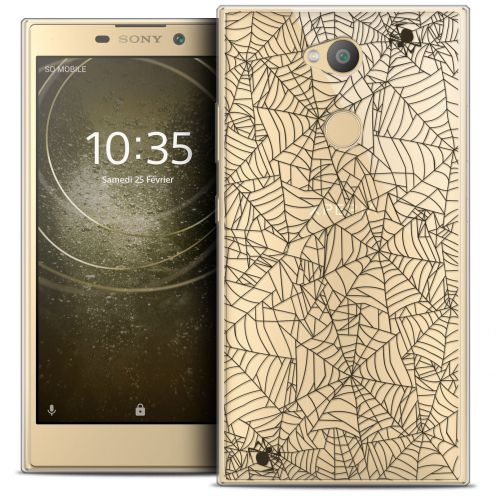 "Coque Crystal Gel Sony Xperia L2 (5.5"") Extra Fine Halloween - Spooky Spider"