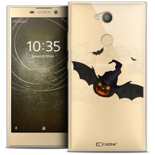 """Coque Crystal Gel Sony Xperia L2 (5.5"""") Extra Fine Halloween - Chauve Citrouille"""