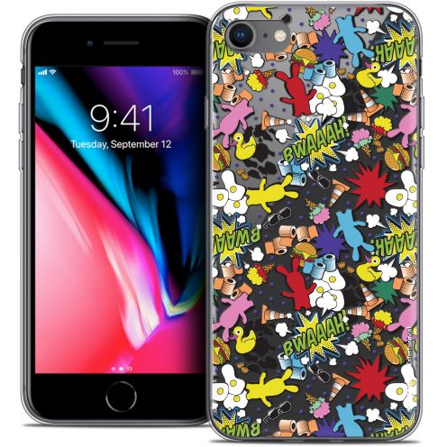 "Coque Gel Apple iPhone 7 (4.7"") Extra Fine Lapins Crétins™ - Bwaaah Pattern"