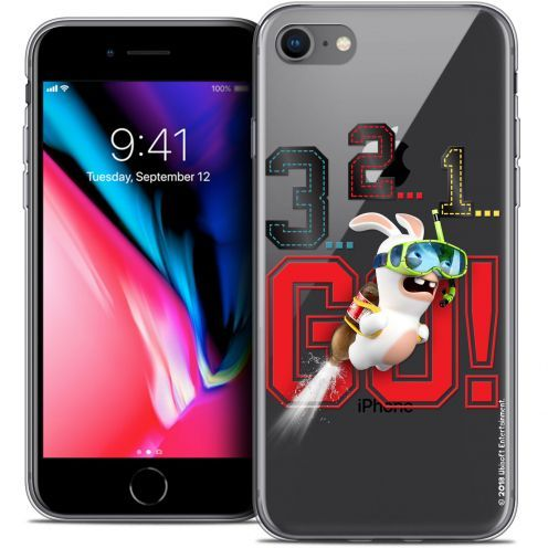 """Coque Gel Apple iPhone 7 (4.7"""") Extra Fine Lapins Crétins™ - 321 Go !"""