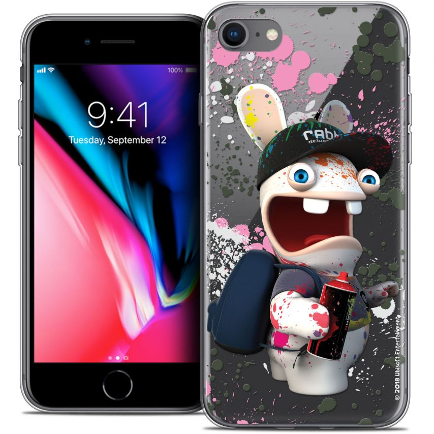 "Coque Gel Apple iPhone 7 (4.7"") Extra Fine Lapins Crétins™ - Painter"