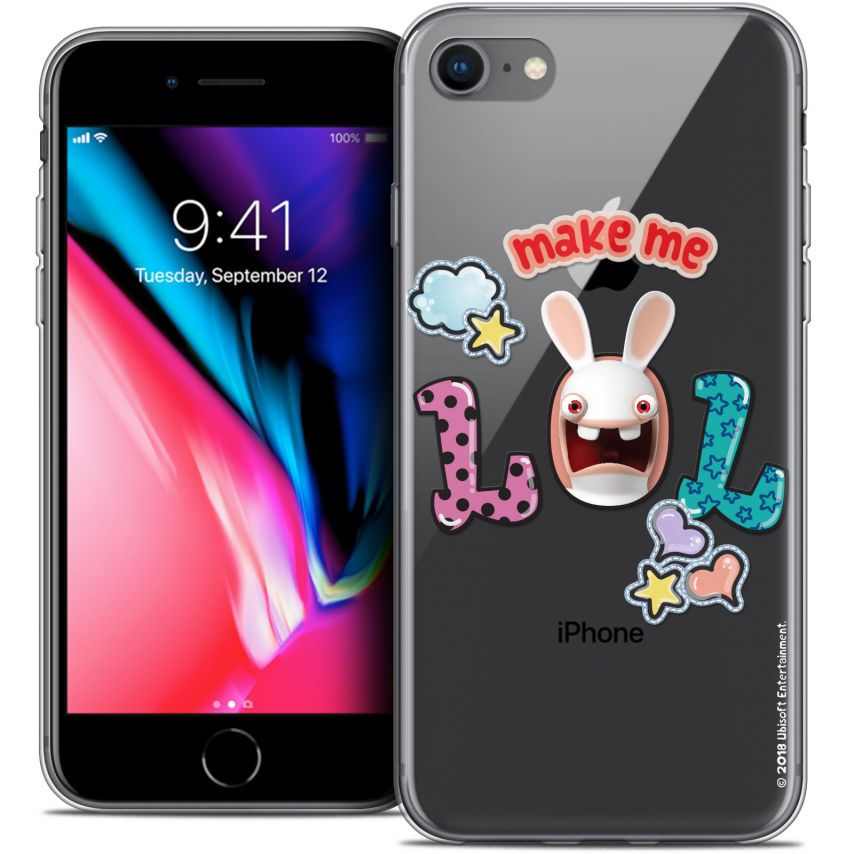 """Coque Gel Apple iPhone 7 (4.7"""") Extra Fine Lapins Crétins™ - LOL"""