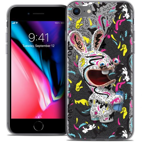 """Coque Gel Apple iPhone 7 (4.7"""") Extra Fine Lapins Crétins™ - Tag"""