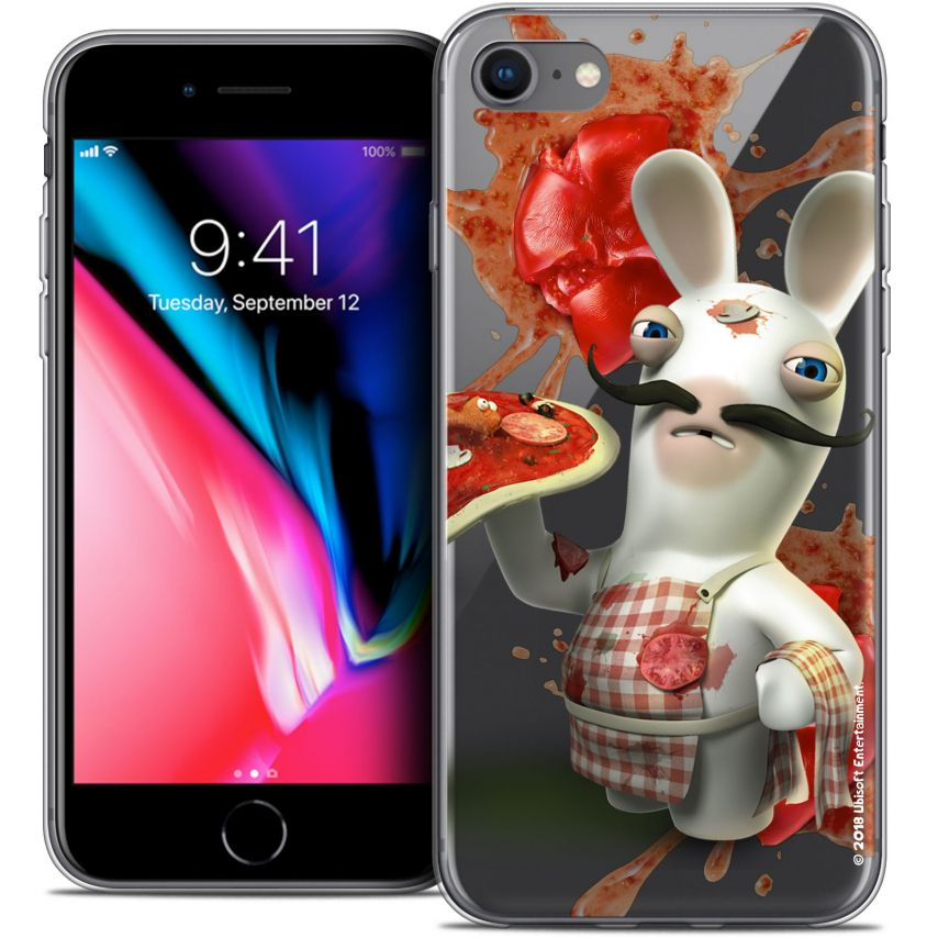 "Coque Gel Apple iPhone 7 (4.7"") Extra Fine Lapins Crétins™ - Cuisinier"