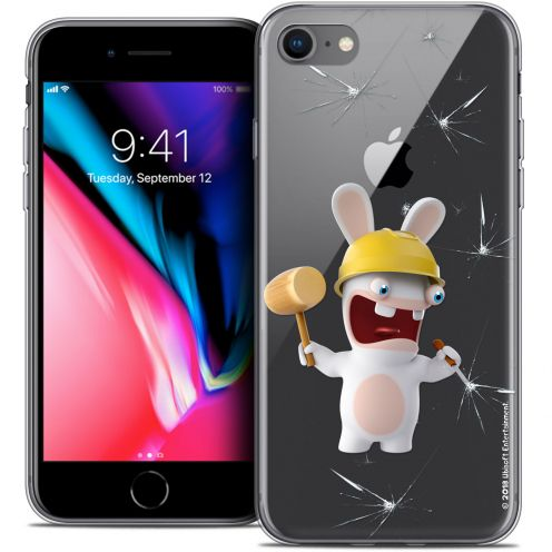 """Coque Gel Apple iPhone 7 (4.7"""") Extra Fine Lapins Crétins™ - Breaker"""