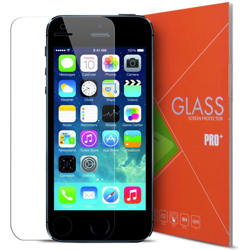 Zoom sur Protection d'écran Verre trempé Apple iPhone 5/5S - 9H Glass Pro+ HD 0.33mm 2.5D