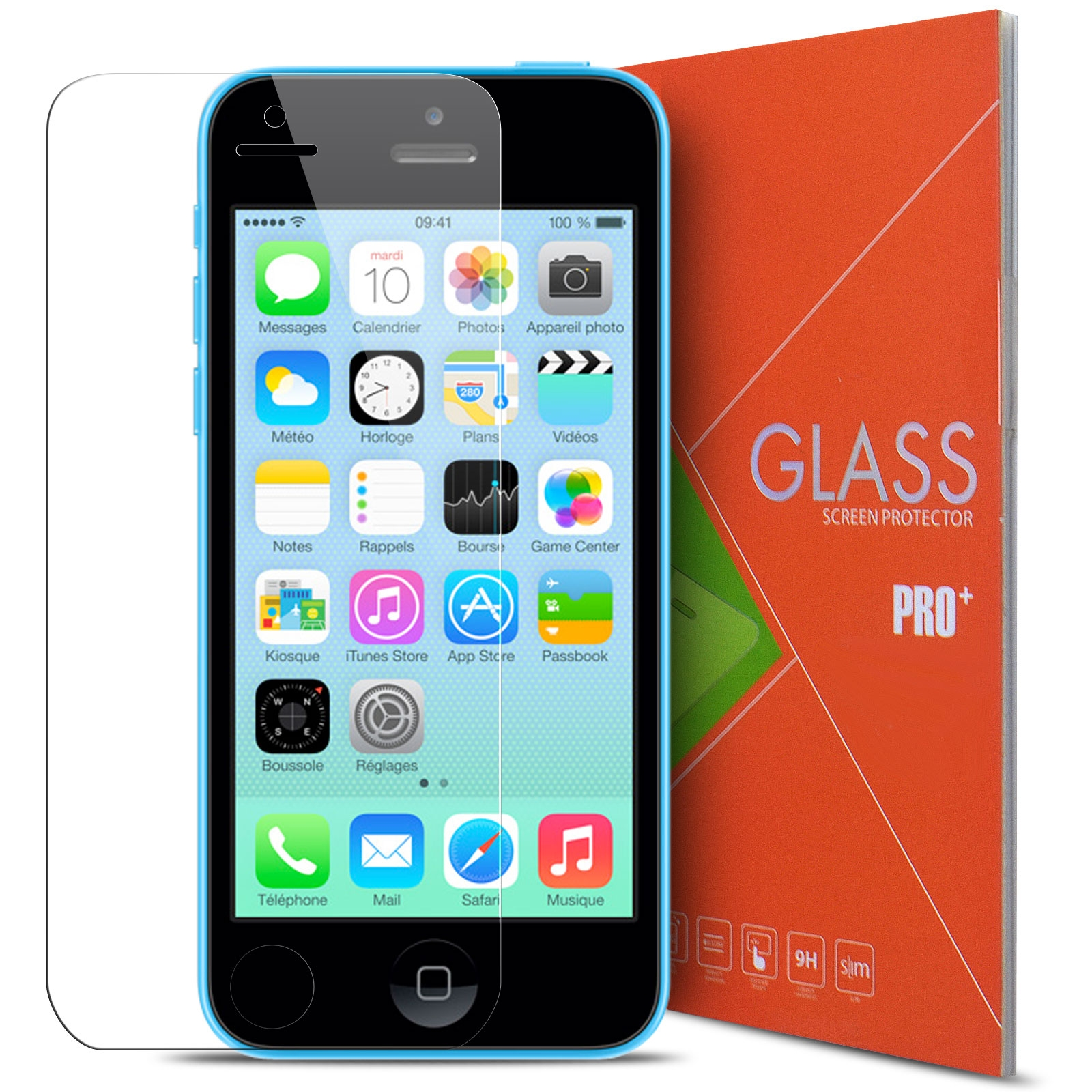 verre tremp apple iphone 5 5s se 9h glass pro hd 2 5d. Black Bedroom Furniture Sets. Home Design Ideas